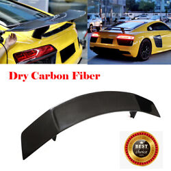 For Audi R8 Coupe 2016-2018 Rear Trunk Spoiler High Lid Wing Trim Dry Carbon