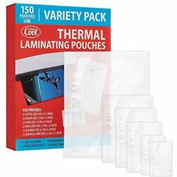 5mil Thermal Laminating Pouches 150 Count | Letter Photo Variety Pack