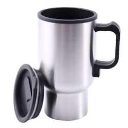 20xcar Auto Stainless Steel 12v Car Auto Adapter Heated Travel Mug Thermos