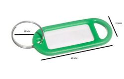 Key Anneau Tag 50mm X 20mm With Label And Split Green Pack Of 2000
