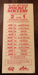 Very Rare Misl 1981-82 New Jersey Rockets Schedule Only Played 1 Year Defunct