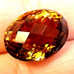 25.45 Ct Rare Top Luster Natural Earth Mined Imperial Topazbig Loose Gem.