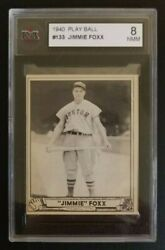1940 Play Ball 133 Jimmy Jimmie Foxx Ksa 8 As White And As Fresh As Is Normal Hq