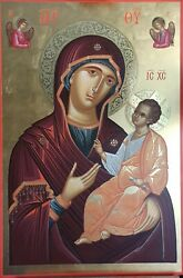 Hand Painted Byzantine Art Icon Mother God-virgin Mary-theotokos 21.65x17.71in