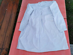 Old Antique Primitive Menand039s Shirt White Homespun Handmade Hand Sewing Early 20th