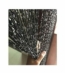 Eyotool 1x2 M Door String Curtain Rare Flat Silver Ribbon Thread Fringe Window P