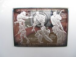 1993 All Star Nhl Clarence Campbell Conference Limited Ed 3 Oz .999 Silver Medal