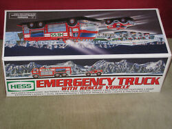 Hess Emergency Truck With Rescue Vehicle 2005 Case Of 6 Brand New Red Fire
