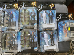 Mcfarlane Toys X-files Lot Of 7, Agents Mulder And Scully - Rare Packaging Error