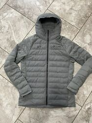 Nike Elite Michigan State Spartans Basketball Down Winter Coat Grey Exclusive Lt