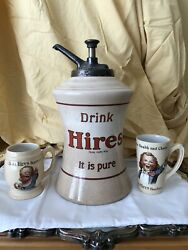 Syrup Dispenser And Mugs