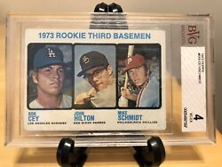 Mike Schmidt And Ron Cey Rookie Card 1973 Topps 615 Rare Graded Bgs Bvg 4 Mvp Hof