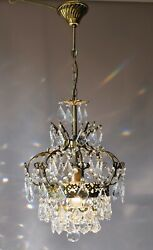 Rare Antique Style French Lamp Crystal Chandelier Home Living Interior Lighting