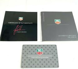 Tag Heuer Operational Manual Calibre 6 And Certificate For Tiger Woods Watch