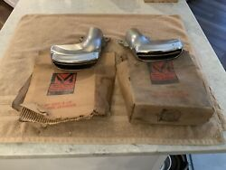 Nos Pair Of 1955 1956 Mercury Exhaust Tips / Outlets
