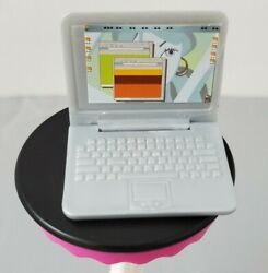 My Scene Barbie Doll Silver Laptop Computer Accessory For Diorama