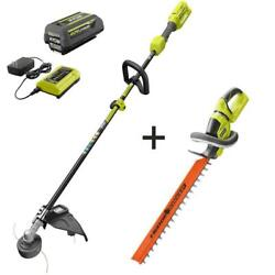 40-volt Cordless Attachment Capable String And Hedge Trimmer W/ Battery Charger