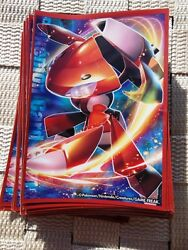 64 Red Genesect Pokemon Trading Card Game Japanese Card Sleeves