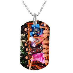 PERSONALIZED CUSTOM PHOTO DOG TAG COLOR JEWELRY NECKLACE PENDANT CHAIN GIFT $14.99