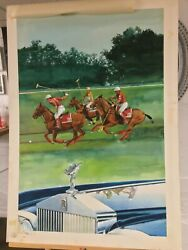 Rolls-royce Polo Poster Original Artwork. 1987. One-of-a-kind. Exclusive.