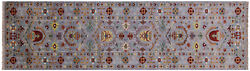 2and039 9 X 9and039 11 Runner Hand-knotted Traditional Wool Rug - Q8373