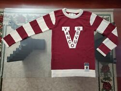 Vancouver Millionaires Ccm Heritage Knit Sweater Jersey Small Canucks Vintage
