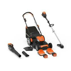 60-volt Cordless Lithium-ion Mower/trimmer/blower With 2 Batteries And 2 Charger