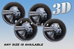 Pontiac Indian Head Wheel Cap Domed Decals Emblems Stickers C/b Any Size