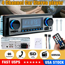 New Bluetooth Vintage Car Radio Mp3 Player Stereo Usb Aux Classic Tereo Audio