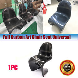Full Carbon Fiber Art Chair Seat Universal Accessories Car Auto Styling 1pc