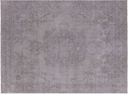 Traditional Vintage White Wash Hand Knotted Rug 9' 6 X 12' 11 - Q8505