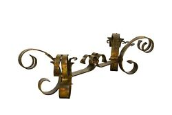 Hollywood Regency Coffee Table Base, Gold Gilt Scrolling Iron Coffee Table Base