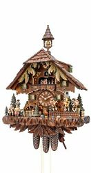Cuckoo Clock With Moving Dancers Musicians And Turning Mill.. Ka 3756/8 Ex New