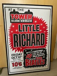 Hand Painted The Beatles Concert Poster 1960s - Signed By Artist Tony Booth