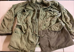 1958 Menandrsquos Cotton Sateen Water Repellent Military Coat Southern Aviation Bag128