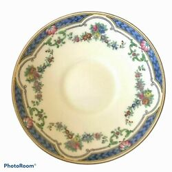 Antique Service For 12 Minton Ripon Blue China, Gravy Boat And Platters Included