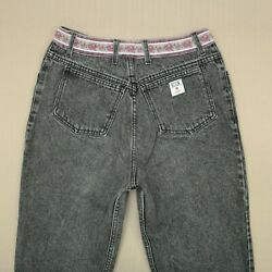 Soon By Georges Marciano High Waist Ankle Zip Jeans Women's Size 32 Vintage 80s