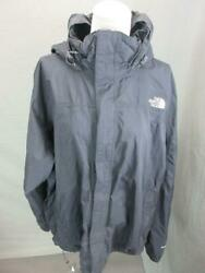 The North Face Size 2XL Mens Black Full Zip Waterproof Hooded Rain Jacket T249 $33.24