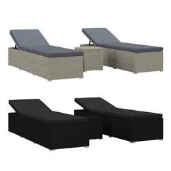 1/2x Outdoor Recliner Chaise Sun Lounge Chair Pool Garden Lounger Patio Daybed