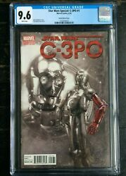 Star Wars Special C-3po 1 Harris Sketch Cover Cgc 9.6 1243243019