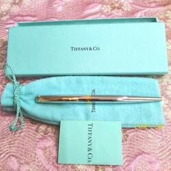 And Co. T Clip Ballpoint Pen Sv925 Black Box With Bag Marin