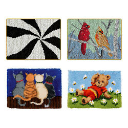 Latch Hooking Kit Diy Embroidery Cross Stitch Needlework For Rug Carpet Making