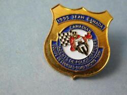 Team Canada Canadian Police Officers Motorcycle Racing 1995 Pin Vintage Button