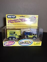 Breyer Horse Mini Whinnies Adventure Vehicle And 2 Horse Trailer Nos