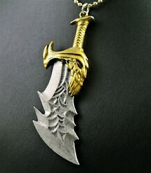 Kratos God Of War Blades Of Chaos Pendant Necklace W/free Jewelry Box And Ship
