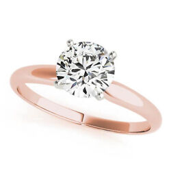 0.70 Ct Natural Diamond Solitaire Engagement Ring Round Cut G/si2 14k Rose Gold