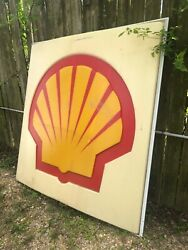 Large Vintage Shell Gas Sign 6 Feet Tall