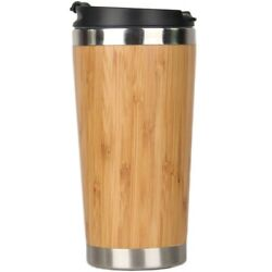20x450ml Bamboo Coffee Cup Stainless Steel Coffee Travel Mug With Leak-proof