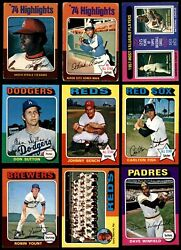 1975 O-pee-chee Baseball Partial Complete Set 6 - Ex/mt