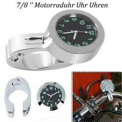 7/8 And039and039 Motorcycle Clock Clock For Motorcycle Motorcycle Watch High Quality